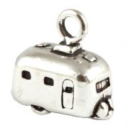 Caravan / Trailer Sterling Silver Charm - Holidays Camping